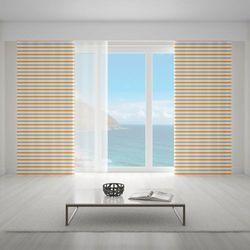 Zasłona okienna na wymiar - RETRO HORIZONTAL ORANGE