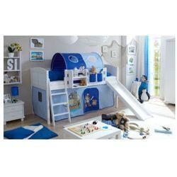 Ticaa kindermöbel Ticaa łóżko ze zjeżdżalnią ekki sosna white country pirat kolor jasnoniebieski/ciemnoniebieski