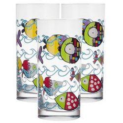Krosno / basic glass Krosno deco line kids komplet szklanek dziecięcych 230 ml 3 sztuki