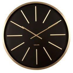 Karlsson :: Zegar ścienny Maxiemus Brass Station Black, kolor czarny
