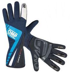 Rękawice OMP First Evo - Granatowo / Czarny - produkt z kategorii- Rękawice motocyklowe