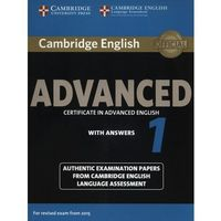Camb English Advanced 1 for updated exam: Student's Book with answers egzamin 2015 (9781107653511)