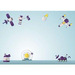Wally - piękno dekoracji Tablica magnetyczna suchoscieralna dla dzieci kosmos 135