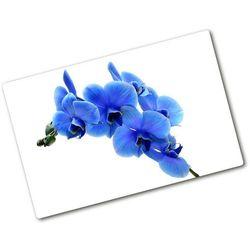 Deska do krojenia hartowana Niebieska orchidea