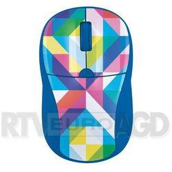 Trust  primo wireless mouse - blue geometry - produkt w magazynie - szybka wysyłka! (8713439214802)