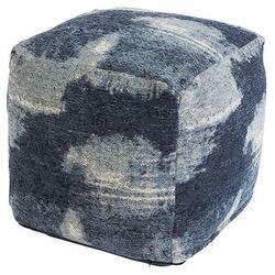 Qazqa Vintage kwadratowy puf niebieski 45 x 45 x 45cm - puri