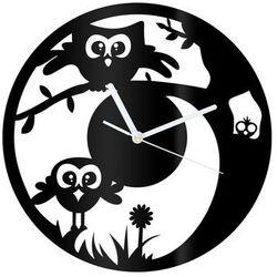 Zegar z pleksi na ścianę Sówka z białymi wskazówkami
