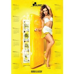 Kalendarz ścienny 2017 yellow - żółty wyprodukowany przez Olimp sport nutrition