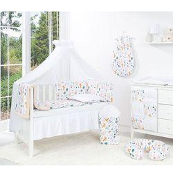 MAMO-TATO 4-el dwustronna pościel dla niemowląt LUX do łóżeczka 70x140 Forest / pieguski beż - moskitiera