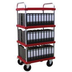 Wózek piętrowy do dużych obciążeń, dł. x szer. 900x600 mm, nośność 500 kg, czerw