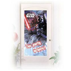Dekoracja foliowa na drzwi Star Wars - 152 x 76 cm - 1 szt.