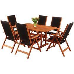 Meble ogrodowe HOME&GARDEN drewniane Meranti 200 Czarny + DARMOWY TRANSPORT! (5904730242271)