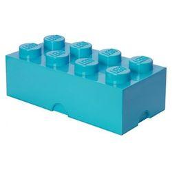 POJEMNIK LEGO 8 LAZUROWY - LEGO POJEMNIKI