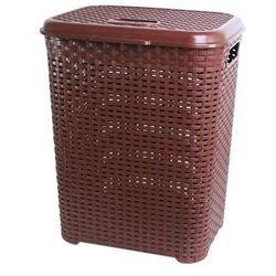 Pucuś Kosz na pranie prostokątny brązowy 45 l (5907569744077)