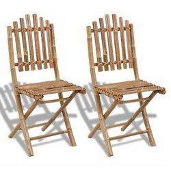 Składane krzesła tarasowe javal - 2 szt. marki Edinos premium
