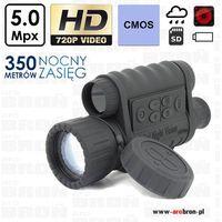 Noktowizor cyfrowy Bestguarder WG-50 6x50 - HD 720p, IPX4, zasięg w ciemności do 350m.