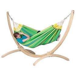 Zestaw hamakowy: hamak currambera ze stojakiem canoa, zielony cuh14cns12-1 marki La siesta