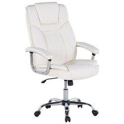 Beliani Krzesło biurowe beżowe - obrotowe - skóra ekologiczna - advance (7081453062763)