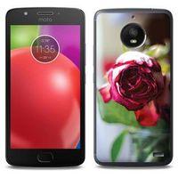 Foto Case - Motorola Moto E4 - etui na telefon Foto Case - pączek róży, kolor różowy