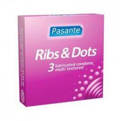 Ribs&Dots (1op./3szt) wypust i prążki (antykoncepcja i erotyka)