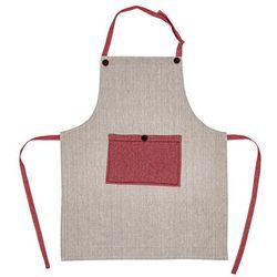 Fartuch beżowy / czerwony Heda, 70 x 85 cm