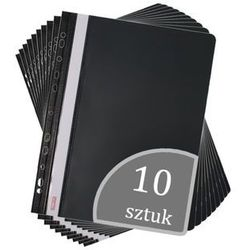 Biurfol Skoroszyt a4 wpinany do segregatora pvc 10 sztuk - czarny (2501234503094)