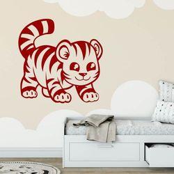 Naklejka welur dla dzieci tygrysek 2406 marki Wally - piękno dekoracji