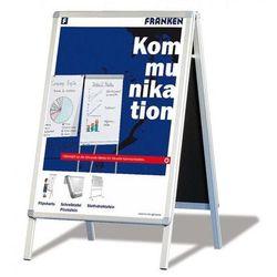 Franken Tablica reklamowa , 64x100cm, podłogowa, dwustronna, rama alu., biała