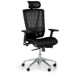 Krzesło biurowe lester m, czarny marki B2b partner