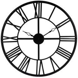 Czarny zegar na ścianę Ø 70 cm, nowoczesny zegar, duży zegar, zegar do salonu, czarny zegar, zegar dekoracyjny, zegar ścienny metalowy marki Atmosphera créateur d'intérieur