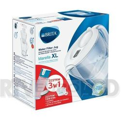 Brita Marella XL (biała) + 2 wkłady Pure + Fill & Go Vital, MARELXL2WVN