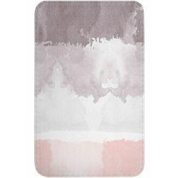Dywaniki łazienkowe z pianką memory jasnoróżowo-szary marki Bonprix