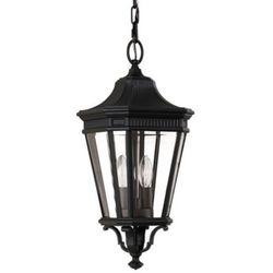 Elstead Zewnętrzna lampa wisząca cotswold lane fe/cotsln8/m bk  feiss metalowa oprawa ogrodowy zwis latarnia ip23 czarny, kategoria: lampy ogrodowe