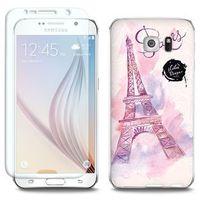 Full Body Slim Fantastic - Samsung Galaxy S6 - etui na telefon Full Body Slim Fantastic - różowa wieża eiff