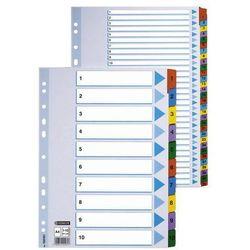 Przekładki numeryczne mylar a4/1-12, kolor 100162 marki Esselte