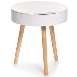 Biały stolik kawowy z drewna sosnowego, stolik do kawy, stolik do salonu, stolik do pokoju, stolik nocny, stolik drewniany, ZELLER