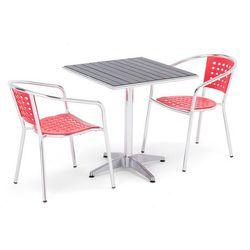 Zestaw mebli zewnętrznych 2 krzesła + kwadratowy stół, 131354