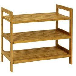 Półka na buty 3 piętra, bambusowa z kategorii szafki na buty