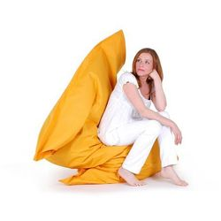 Pufa worek 140 x 180 cm żółty, kolor żółty