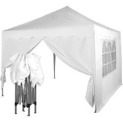Instent ® Ekspresowy biały pawilon namiot 3x3 m + 2 ścianki - biały