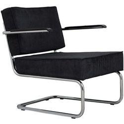 Zuiver Krzesło Lounge RIDGE RIB ARM czarne 3100016
