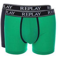 bokserki 2-pak niebieski zielony l, Replay