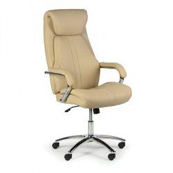 Krzesło biurowe Nexus, skóra naturalna, beż