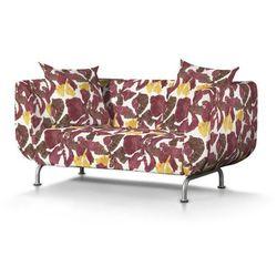 Dekoria  pokrowiec na sofę strömstad 2-osobową, żółto-brązowe kwiaty, sofa stromstad 2-osobowa, wyprzedaż do -30%