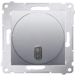 Ospel Dzwonek elektroniczny 8–12 v~ srebrny mat - ddt1.01/43 simon 54 premium