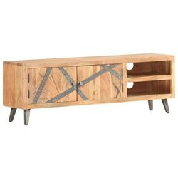 vidaXL Szafka pod TV, 120x30x40 cm, lite drewno akacjowe