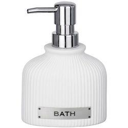 Dozownik do mydła Bath, z pompką, vintage, ceramika, pojemnik na mydło,kolor biały, 220 ml pojemności, marka WENKO (4008838237755)