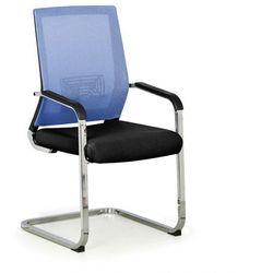 Krzesło konferencyjne Elite Net, niebieski/czarny