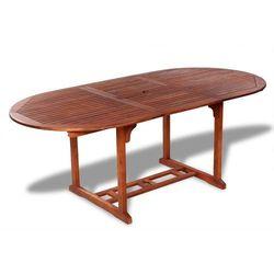 stół ogrodowy jadalniany z drewna akacjowego, rozkładany marki Vidaxl