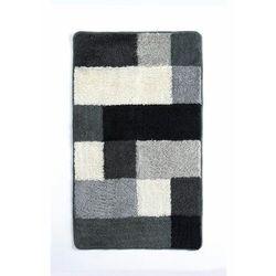Bonprix Dywaniki łazienkowe w kolorowy wzór czarno-biało-szary